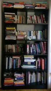 My crowded bookshelf