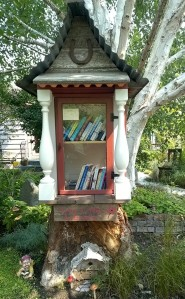 Some Little Free Libraries are quite elaborate such as this one on the east side of Magnolia in Seattle
