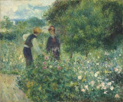 Auguste Renoir (French, 1841 - 1919 ), Picking Flowers, 1875, oil on canvas, Ailsa Mellon Bruce Collection